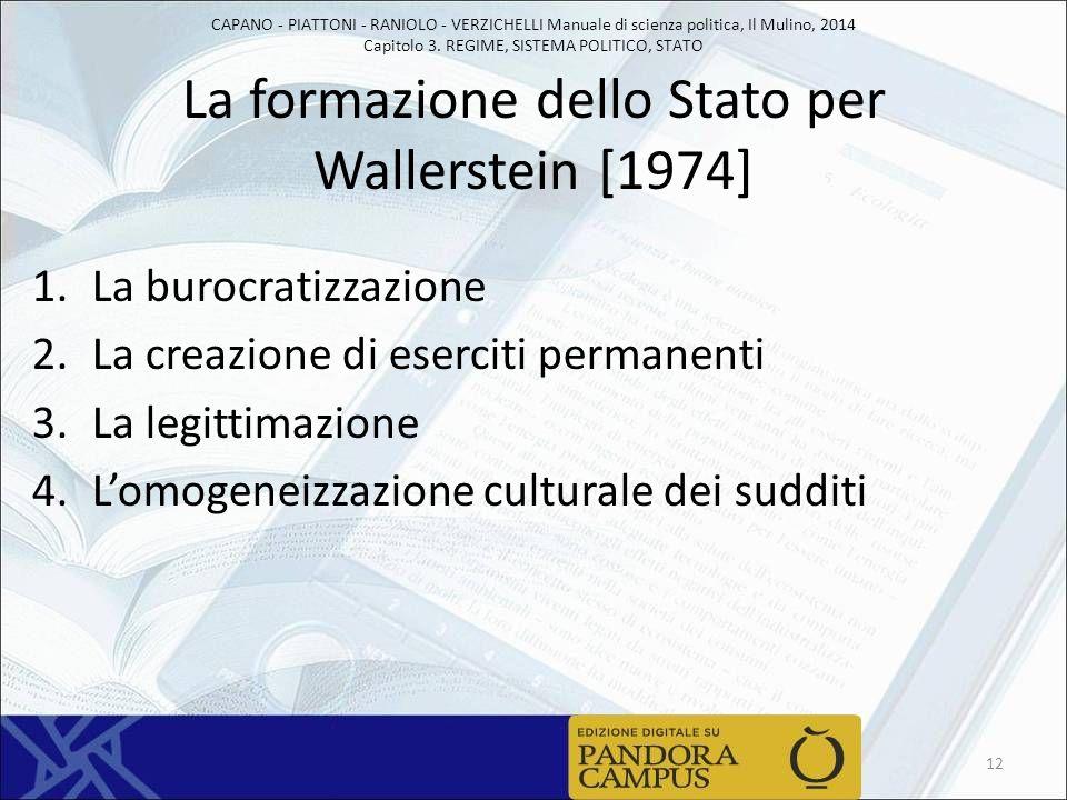 La formazione dello Stato per Wallerstein [1974]
